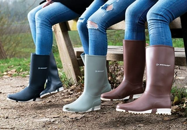 Las botas de agua Dunlop son un calzado de protección.