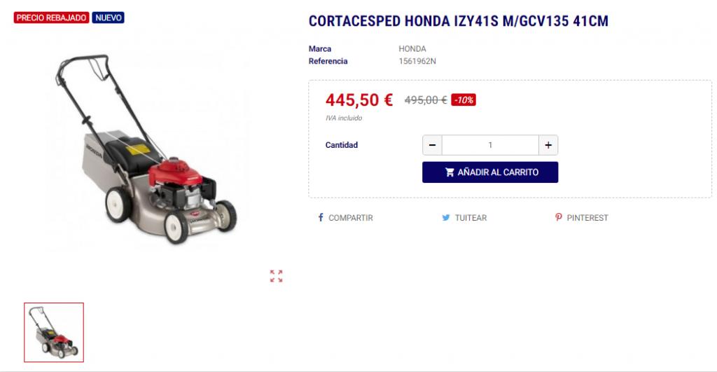 Cortacesped Honda a un 20% de descuento este Black Friday